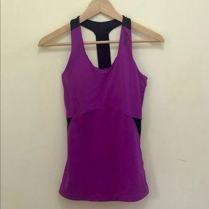 Reebok Purple Racer Back Activewear Top w padding
